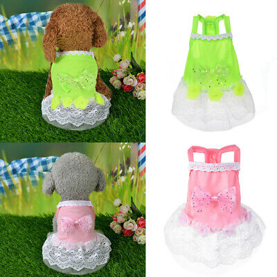 Pet Cat Dog Puppy Bow Princess Dress Dog Summer Costume Apparel Cosplay ILJ (Bow Costume)