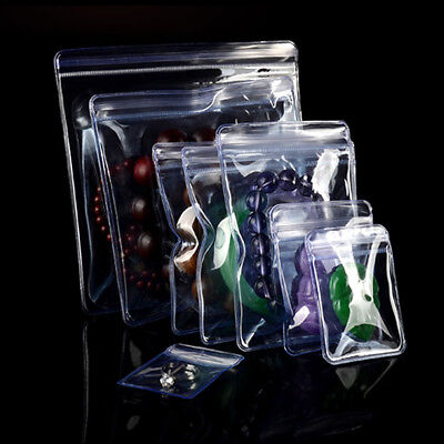 Clear Pvc Plastic Coin Bag For Zip Jewelry Storage Bag Lock Anti-oxidation Pouch