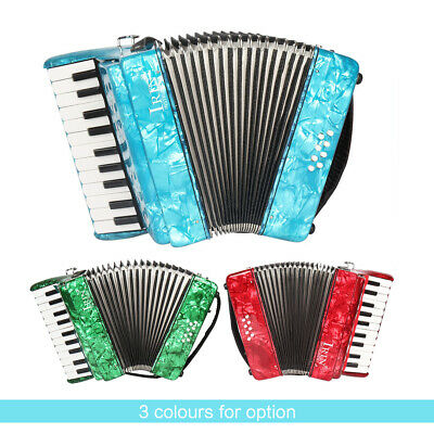 22-Key 8 Bass Piano Accordion for Students Beginners Childern Red Y0E6