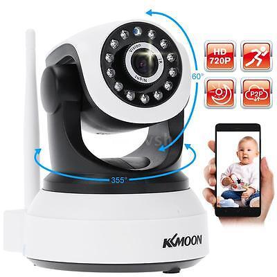 KKmoon Wireless WiFi HD 720P Network IP Camera 2-way Talk P2P IR Cut Evening View