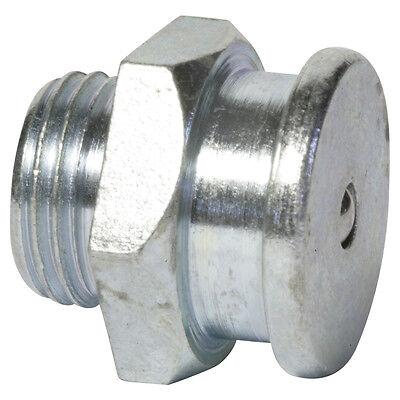 """G 1/4"""" [100 Stück] DIN 3404 Ø22mm Flachschmiernippel Stahl verzinkt"""