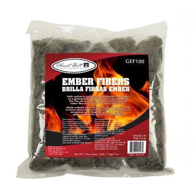 Glowing Ember Fiber Pellet Fireplace Gas Log Decorative Wood Heating Vent Use
