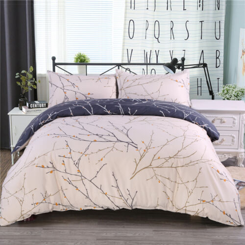 Duvet Cover with Pillowcase Reversible Printed for Comforter