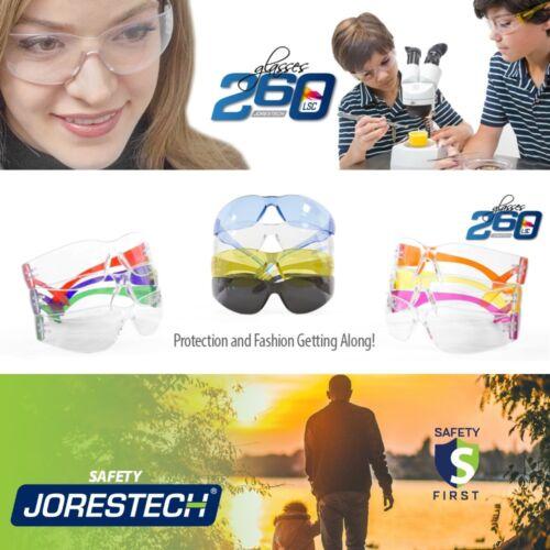12 PAIR JORESTECH UV LENS LOT SAFETY GLASSES BULK NEW VARIETY COLORS