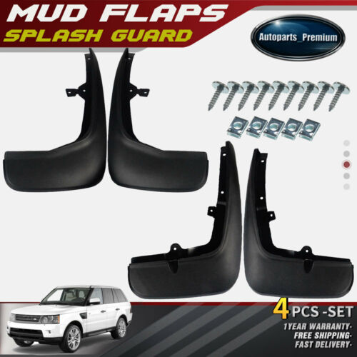 2006-2012 LAND ROVER RANGE ROVER SPLASH GUARD MUD FLAP 4PCS BLACK FRONT+REAR NEW