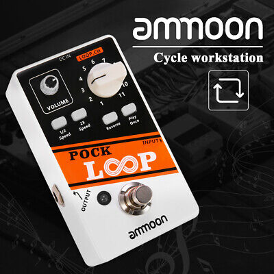 ammoon POCK LOOP Looper Guitar Effect Pedal True Bypass Unlimited Dub Tracks X9M