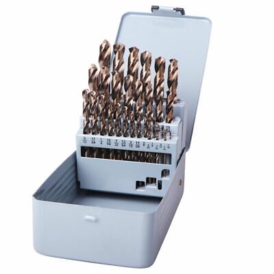 Drillforce 29pcs Drill Bit Set Hss M35 Cobalt Multi-bits Metal Woodworking Tools