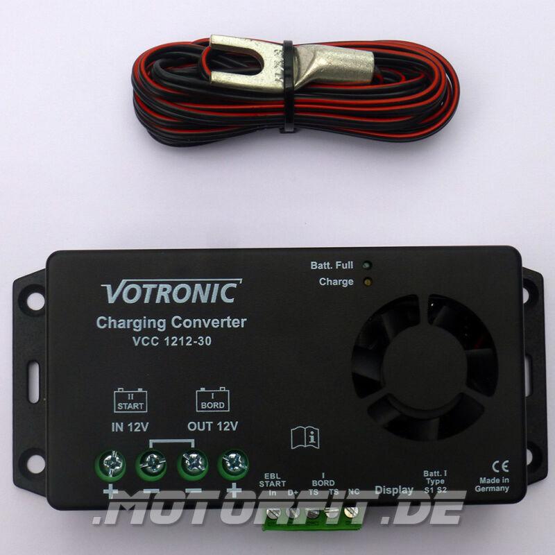Votronic Ladewandler VCC 1212-30 mit / ohne Fernbedienung oder Fernanzeige