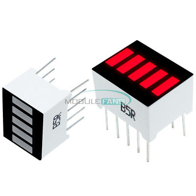 5pcs 5 Segment 1-digit Red Color Bar Led Display For Arduino