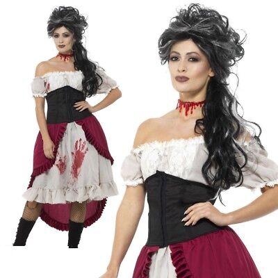 Slasher Opfer Kostüm Trenn Halloween Erwachsene UK 8-18 (Opfer Halloween-kostüm)