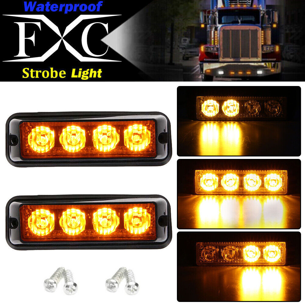 2X Recovery Car Strobe 6LED Lights 12//24V Orange Warning Breakdown Flashing Lamp
