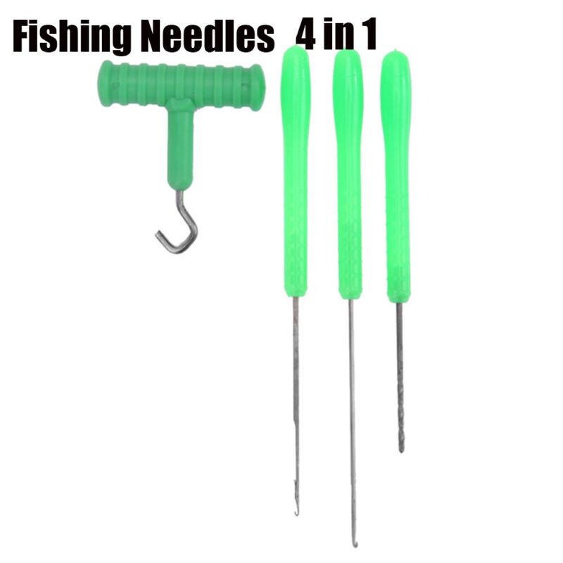 4 in 1 Combo Set Carp Fishing Rigging Bait Lock Needle Kit Tool Drill Tackle