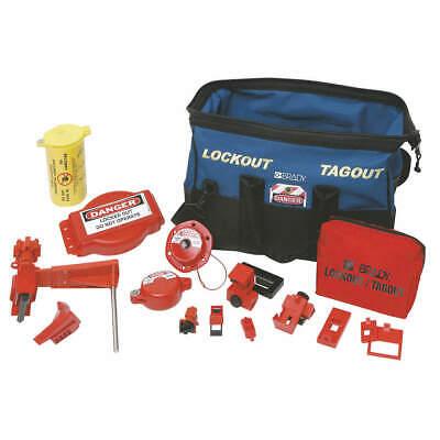 Brady 99689 Portable Lockout Kit Electricalvalve Duffel Bag