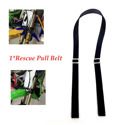 1pcs Universal Motorcycle Rescue Strap Pull Belt Tow Rope Dirt Pit Bike Black