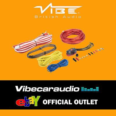 Vibe CL8AWKT-V7 1500 Watts 8 AWG Gauge Power Ground RCA  Amplifier Wiring Kit 8 Gauge Power Kit