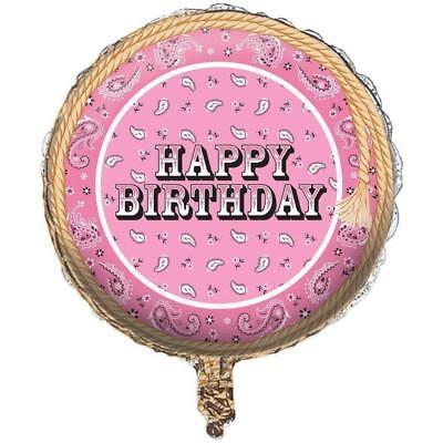 Happy Birthday Western (Set OF 2 Happy Birthday Western PINK Bandana 18