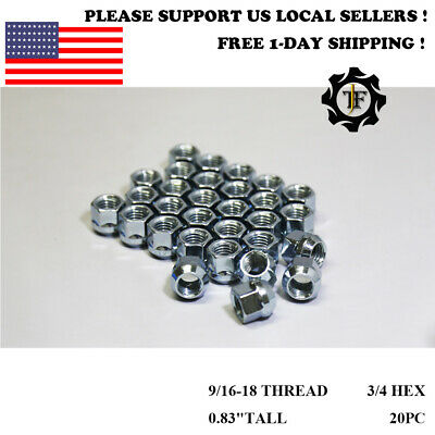 "20PC DODGE DURANGO RAM 1500 3/4"" HEX OPEN END CHROME BULGE ACORN LUG NUTS 9/16"