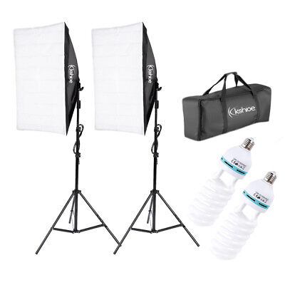 2  Photography Lighting Softbox Stand Photo Equipment Soft Studio Light Kit