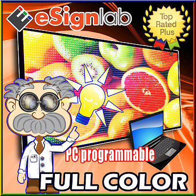 Led Sign Full Color 53 X 135 Pc Cable Programmable Scrolling Outdoor Display