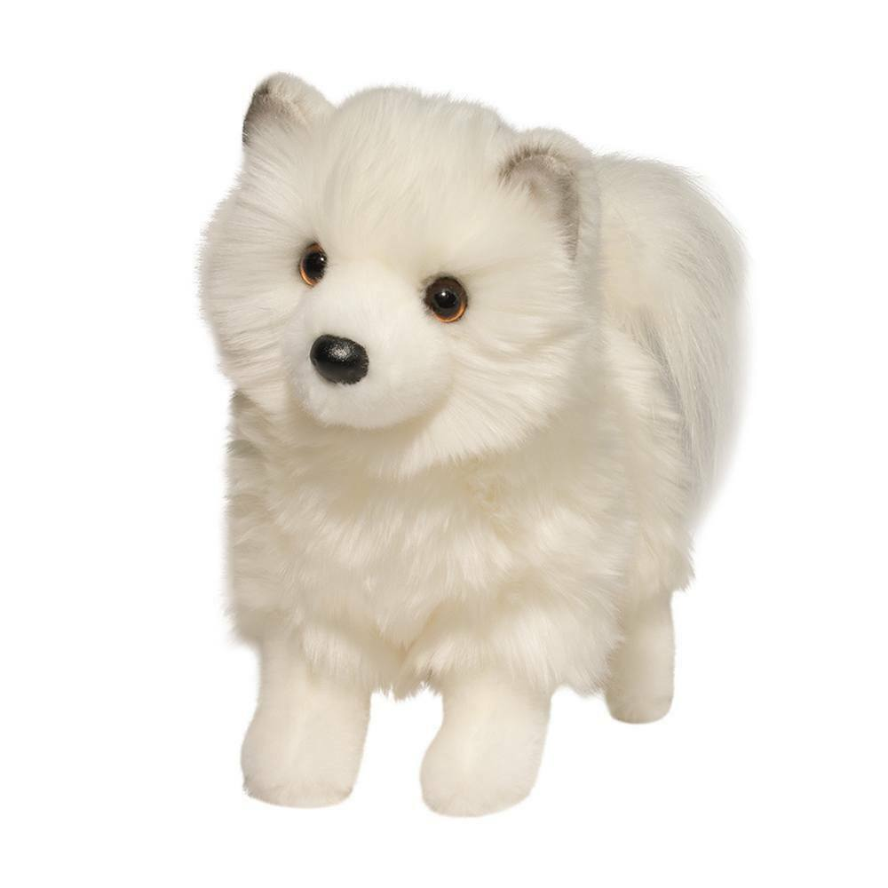 "Douglas Phoebe WHITE POMSKY 10"" Plush Dog Stuffed Animal Pom"