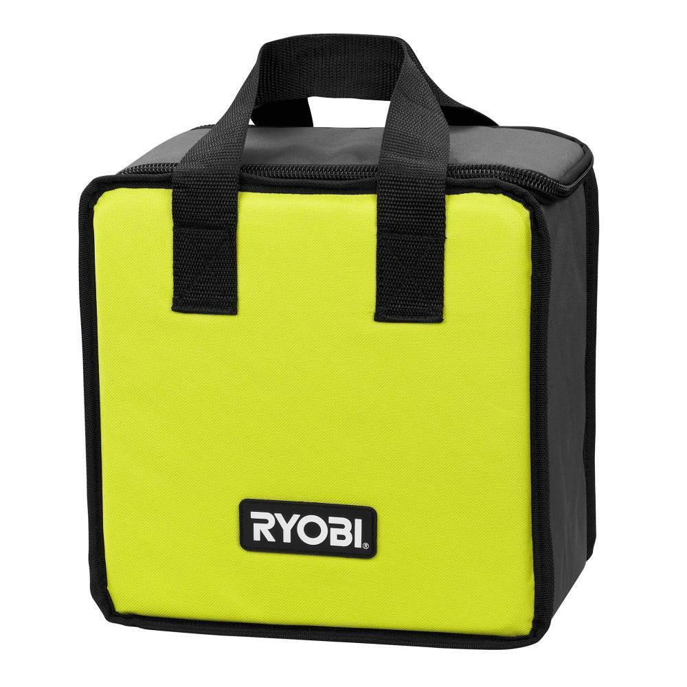 2 PK RYOBI Lime Green Tool Tote Zipper Tool Bag, Fit P239 /P