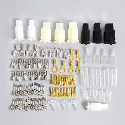 Motorcycle Connectors Wiring Wire Loom Harness Terminal Bullet Repair Plug Kit