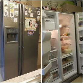 Samsung american style fridge/freezer with water and ice dispenser