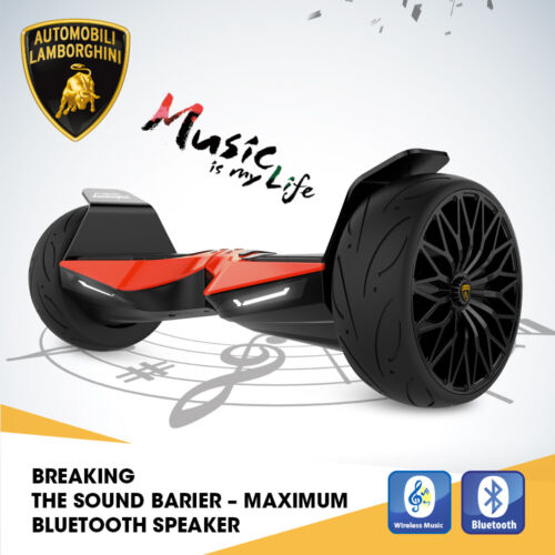 """Lamborghini 8.5"""" Smart Electric Scooter 2-Wheels Bluetooth With Music Gift"""