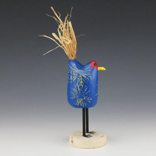 NATIVE AMERICAN NAVAJO FOLK ART CHICKEN BY EDITH & GUY JOHN
