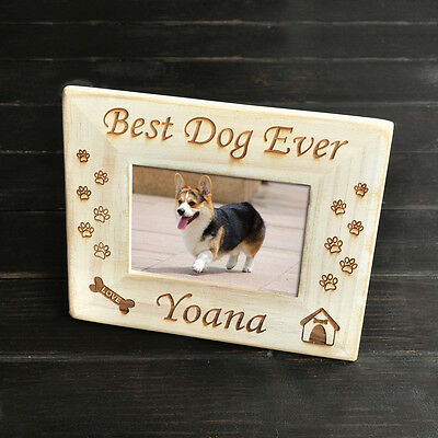 Personalized Pet Memorial Picture Frame Retro White Photo Frame for Dog