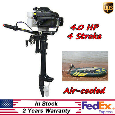 4-stroke Outboard Motor Engine 4 Horsepower Fishing Boat Inflatable Air Cooling