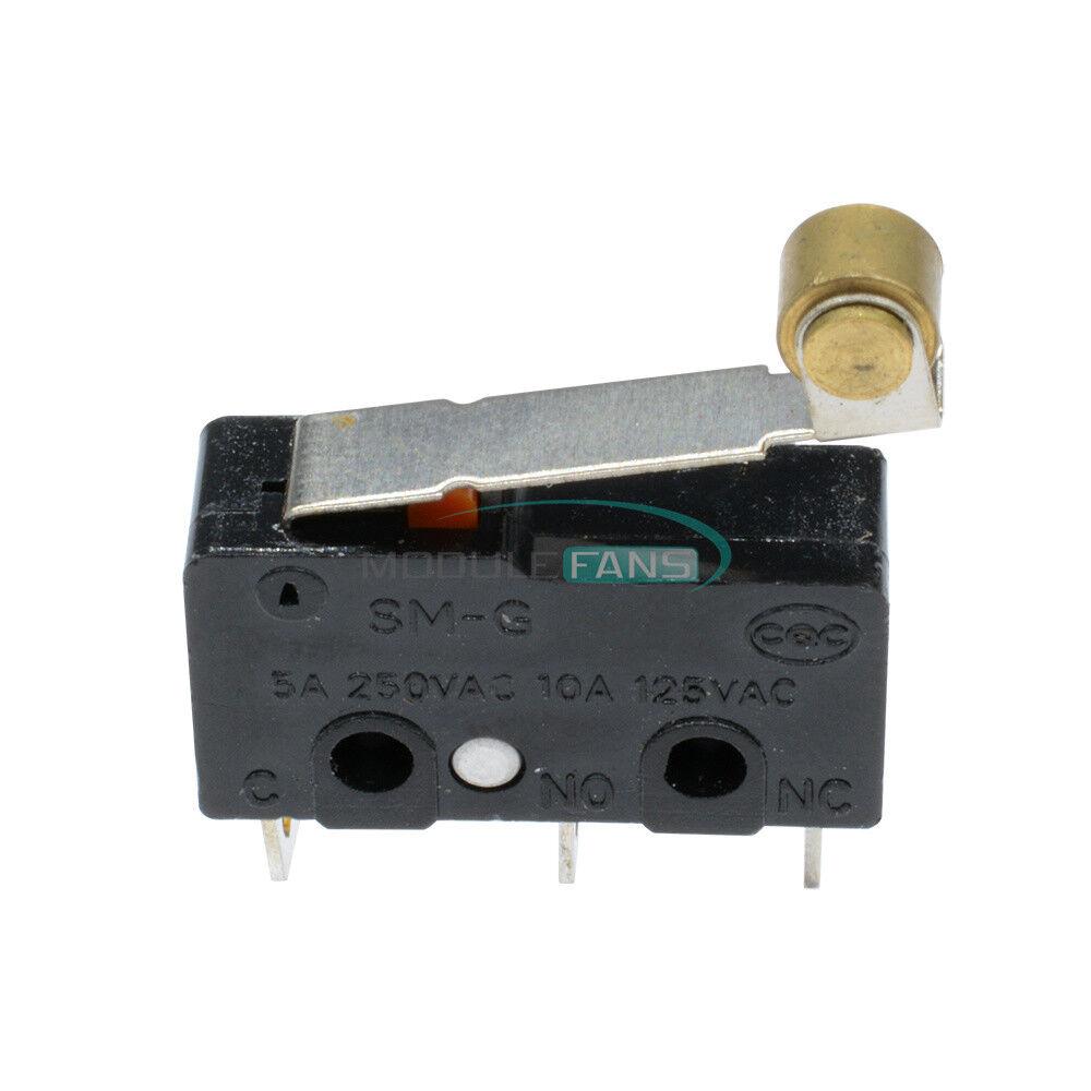 50 pcs Tact Switch 3A 5A 250V Microswitch Round Handle 3PIN