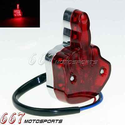 Red Lens LED Motorcycle Brake Running License Plate Tail Light For Haley Chopper