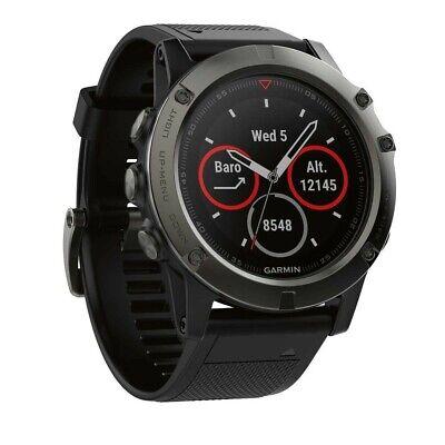 Garmin Fenix 5X Sapphire GPS Heart Rate Watch Slate Grey / Black - RRP $999