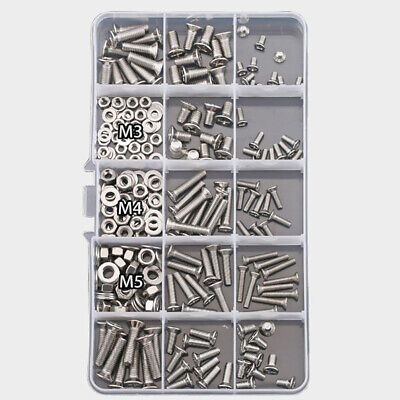 240 PIECE MIXTURE METRIC SIZE NUT AND BOLT SCREW ASSORTMENT HARDWARE KIT (240 Piece Metric Nut)