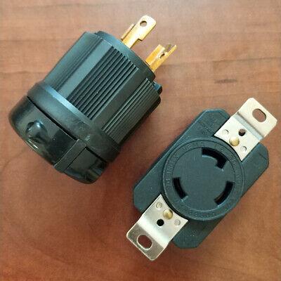 30 Amp 250 Volt Male Female Twist Lock 3 Wire Plug Nema L6-30p L6-30r