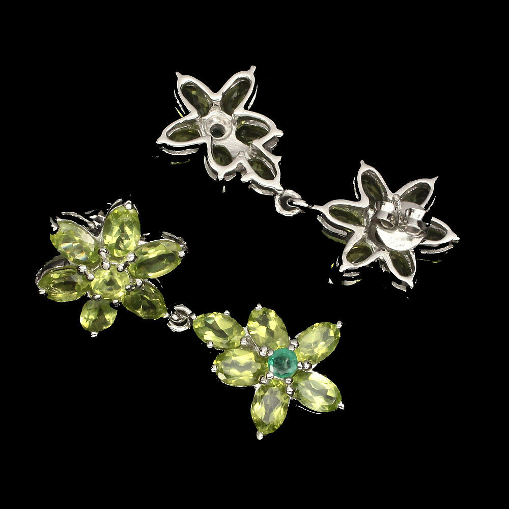 Amethyst lila Navette Design Ohrringe Ohrstecker Stecker 925 Sterling Silber neu