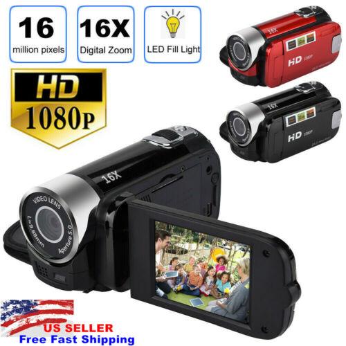 1080P HD Camcorder Digital Video Camera TFT LCD 24MP 16x Zoo