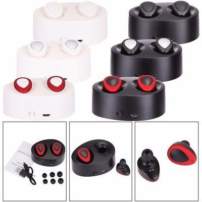 Mini Tws Wireless Bluetooth Stereo Headset In Ear Earphones Earbuds Headset Us