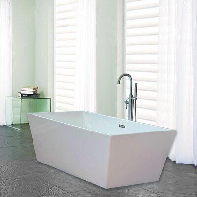 Woodbridge 67'' Freestanding Bathtub  B-0003 with Overflow & Drain Brush Nickel