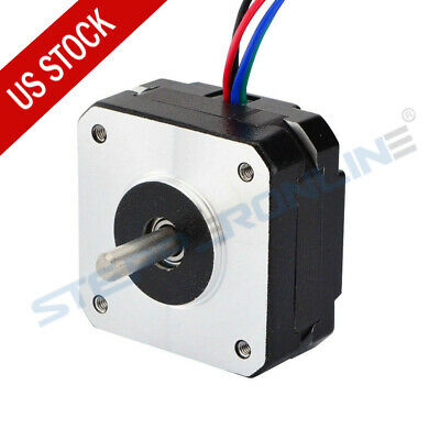 Us Ship 0.9deg Nema 17 Stepper Motor Bipolar 1.2a 15.6oz.in 42x42x20mm 4-wires