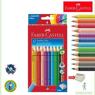 Grip 12er Buntstifte, dicke Farbstifte + Spitzer Schulanfang (Faber Castell Buntstiften)