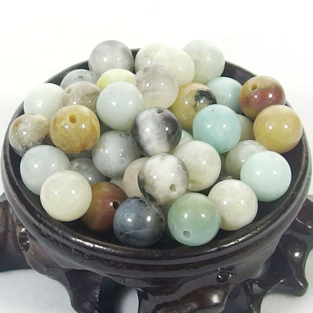 Bulk Gemstones I natural spacer stone beads 4mm 6mm 8mm 10mm 12mm jewelry design amazonite jasper