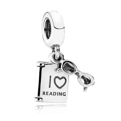 Authentic Pandora Charm Sterling Silver 791984 Love Reading Pendant Charm ](Love Reading)
