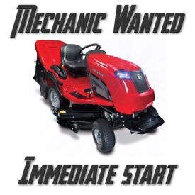 Mechanic Wanted - Lawn tractors/ cylinder mowers/ garden machines
