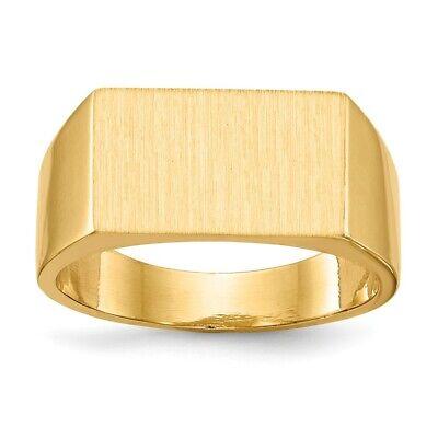 Genuine 14k Yellow Gold Mens Signet Rectangular Ring 9.4 x 5.4mm  10.57 gr