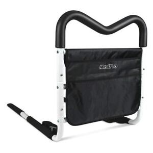NEW MGrip Adjustable Contoured Bed Rail With Multiple Gripping Positions, Black/White