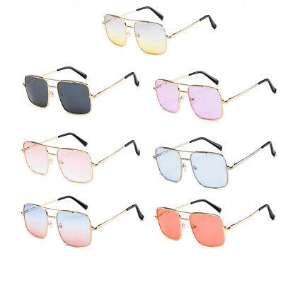 Vintage Sonnenbrille Herren Damen Mode Übergroße Federscharniere Rechteckige UV