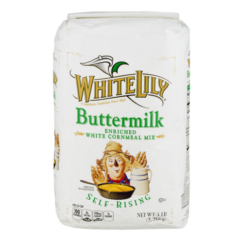 White Lily Self Rising Buttermilk Cornmeal 5 LB Southern Cornbread Recipe