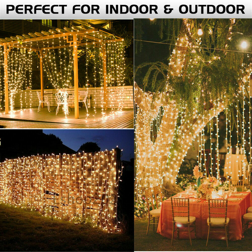 300 LED 3M 9.8ft String Fairy Curtain String Lights Outdoor Indoor Patio Garden Home & Garden